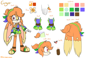 Contest entry - Ginger redesign by Kiiro-nee-san