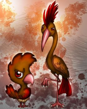 Spearow, Fearow by Phillippeaux