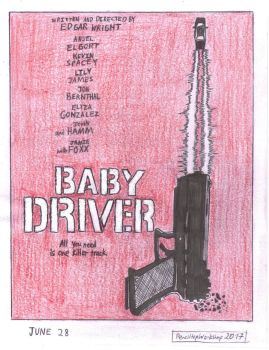 Baby Driver Poster- Gun by PenciltipWorkshop
