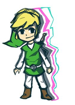 a little sketch of toon Link by catangeltitan
