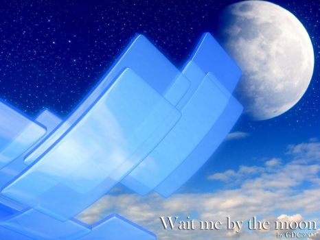 Wait me by the moon Wallpaper by GDC3000