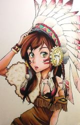 Indian Girl ( Copic Markers ) by ToiFactory