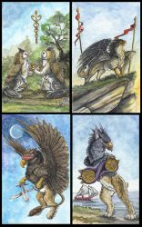 Gryphon Tarot: 2 Suite by silvermoonnw