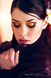 Brown and Yellow by DinaDayMakeup