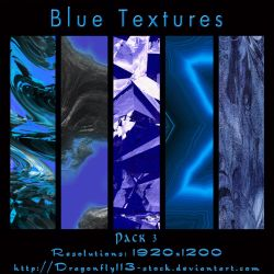 Blue Textures Pack 3 by BFstock