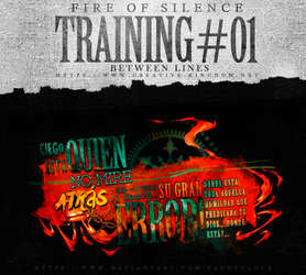 Fire Of Silence: Training no.1 Between Lines by SandyClock