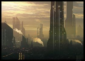 Sci Fi city by Raphael-Lacoste