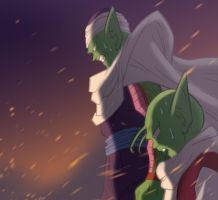 Piccolo and Dende by fwcolbert