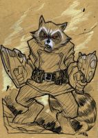 Rocket Racoon by DenisM79
