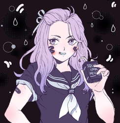 Squid Ink Milk by b-snippet