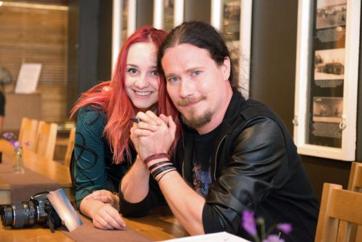 With maestro Holopainen by Fantasia-Art