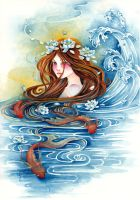 Blue Water, Gold Fish by ShannonValentine