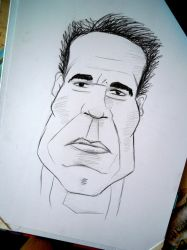 Caricature of Arnold Schwarzenegger by Kresli