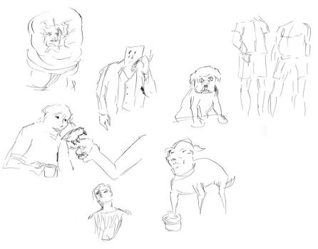Quick Sketches, 45 secs by whiskeyii