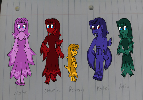 If They Were Zoras (colored) by earthbouds