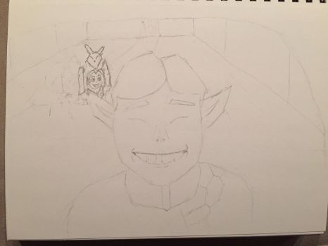 Happy Mask Salesman (WIP) by Johndennis4209