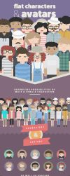 Flat Characters and Avatars by Softboxindia