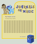 Journals Are Magic - Tardis Ponies by CassidyCreations