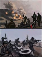 Some old sketches of Syrian civil war. by LeoV95