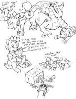 Fallout Ponies-Raider and Kid5 by Demon-Keychain