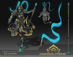 Wukong Prime Fan Concept Art | Warframe by Sinihan