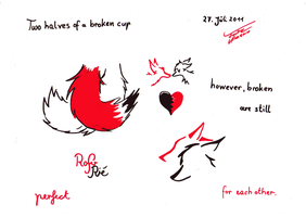 Two halves of a Broken Cup by Brandfuchs