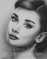 Audrey Hepburn #2 by pinupartiststeve