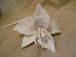 Unpainted Clay Hibiscus by psycholiger13