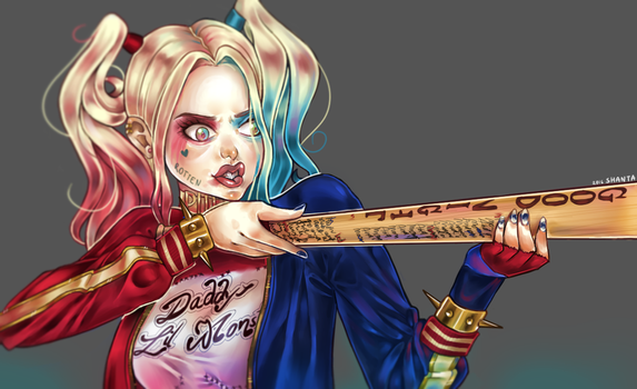 Harley Quinn from SUICIDE SQUAD speedpaint by SHANTA-art