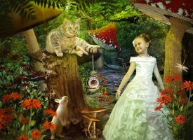 Alia and cheshire cat by Lubov2001