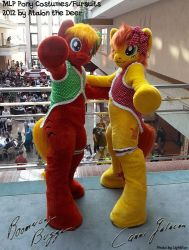 Canni Galacon and Boomerang Bugger MLP Pony by AtalontheDeer