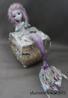 MH monster high repaint Lagoona Purple Mermaid by phairee004