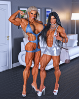 Muscle Girls Candid 2 by Siberianar