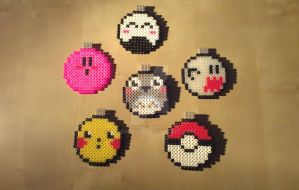 Christmas Ornaments - Perler by RavenTezea