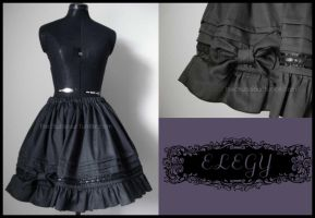 Kuro Lolita Skirt by MissChubi