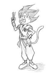 Goku Re-Imagine Sketch 2 by spliter