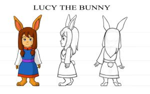Lucy the Bunny by EmberRabbit