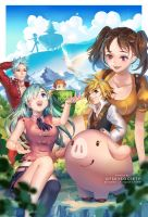 Nanatsu no Taizai | The Seven Deadly Sins by ofSkySociety