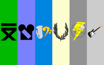 MMC Background (with friend's Cutie Marks) by SilverBand7