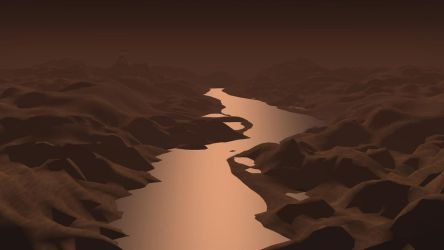 River on the exoplanet by ZourDementor