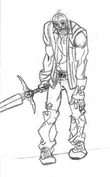 The Zombie Warrior by olks