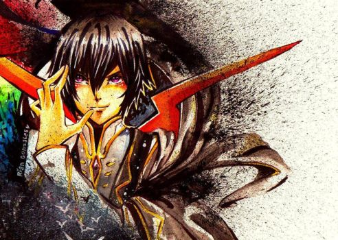 Lelouch Vi Brittania: Obey Me by rianbowart