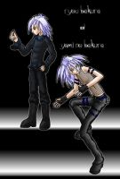 Gothic Ryou and Bakura by scarletblack
