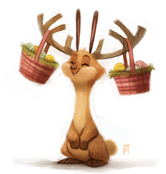 Day 517. Quickie Easter Bunny by Cryptid-Creations
