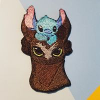 Toothless and Stitch Best Friends Patch by Slothie-Studios