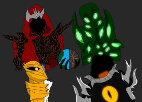 The Four Great Gods by alienhominid2000