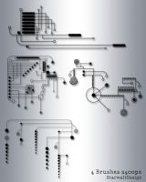 Circuit Board Brushes by StarwaltDesign