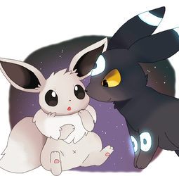 i dreamt this was the cover of that new eevee game by mandaIa