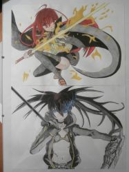 Shana and Black rock shooter by Wicher91