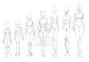 Female Body Reference by SenpaiShortie